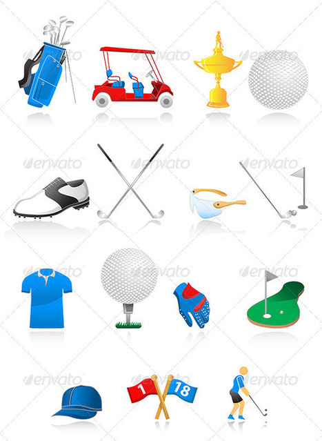 Golf Icons (Icons) | GFX Database | GFX Download | Scoop.it