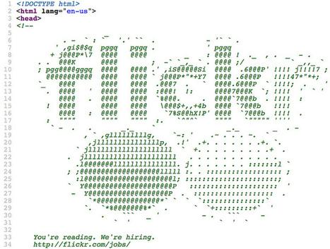 Flickr logo, ASCII-style, V2 | ASCII Art | Scoop.it