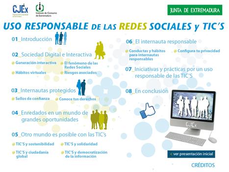 Uso Responsable de las Redes Sociales - CJEX - Instituto de Consumo de Extremadura - Junta de Extremadura | Redes Sociales: Seguridad y Netiqueta | Scoop.it