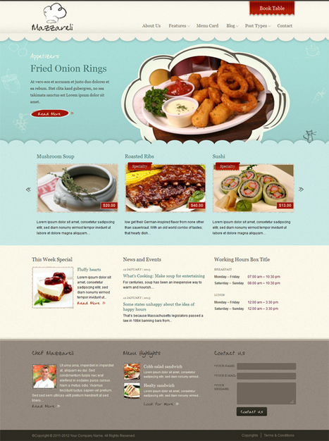 Mazzareli, WordPress Premium Restaurant Theme | WP Download | Foodies day out | Scoop.it
