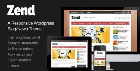Zend Responsive Blog Magazine   Wordpress Themes   Scoop.it