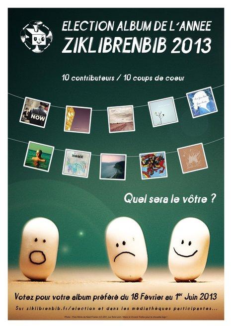 Election album de l'année Ziklibrenbib 2013 | Musique et numérique en bibliothèque | Scoop.it