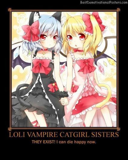 Loli Vampire Catgirl Sisters | Demotivational Posters | Scoop.it