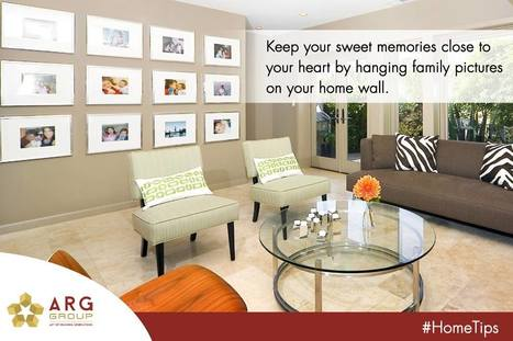 Keep your sweet memories close to your heart by hanging family pictures on your home wall. | Residential Projects | Scoop.it
