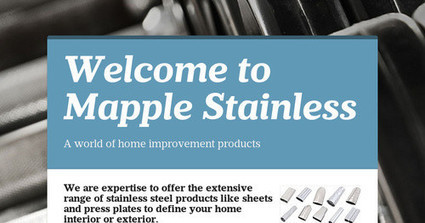 Mapple Stainless Processing - Press Plates | Stainless Steel Sheets Manufacturer | Scoop.it