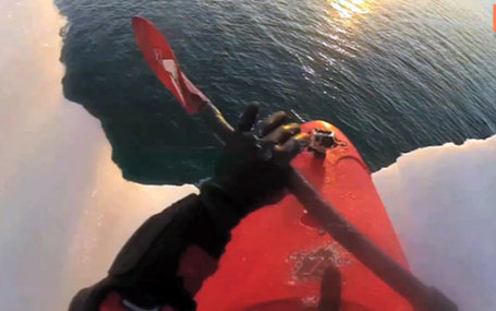 Daredevil Ben Stookesberry kayaks down glacier in Arctic Circle | Strange days indeed... | Scoop.it