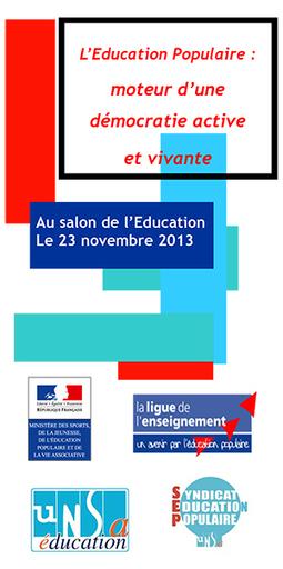 L'éducation populaire invitée du salon de l'Education   Le Journal de l'animation   non formal education: There's life beyond the classroom!!   Scoop.it