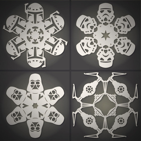 How to: Make DIY Star Wars Snowflakes (Free Templates)   BRAIN SHOPPING • CULTURE, CINÉMA, PUB, WEB, ART, BUZZ, INSOLITE, GEEK •   Scoop.it