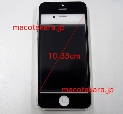 Leaked iPhone 5 front panel compared to iPhone 4S [video] | bini2bini | Scoop.it