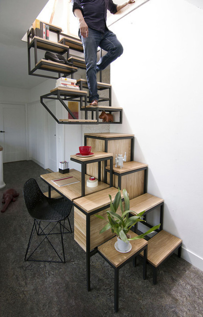 A Suspended Staircase That Doubles As An Innovative Work Space | Communication design | Scoop.it