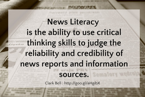 Thing 39: News Literacy | learning21andbeyond | Scoop.it