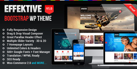 EFFEKTIVE - Bootstrap MultiPurpose Wordpress Theme Download | effektive | Scoop.it