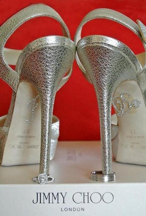 Twitter / WeddingCatcher: Jimmy choo hidden glitter i ...   Monica qb wedding   Scoop.it