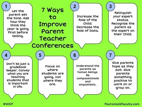 7 Ways to Improve Parent Teacher Conferences | Cool School Ideas | Scoop.it