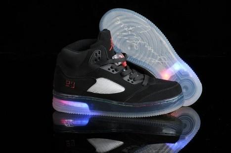 Light Up Nike Air Jordan 5 Shoes Black For Sale | Cheap Air Yeezy outlet online | Scoop.it