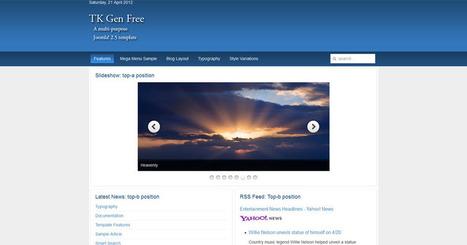 Free Joomla 2.5 template slider header   Free Joomla Templates   abc   Scoop.it