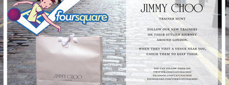Jimmy Choo Foursquare Treasure Hunt | Gaming the real life | Scoop.it