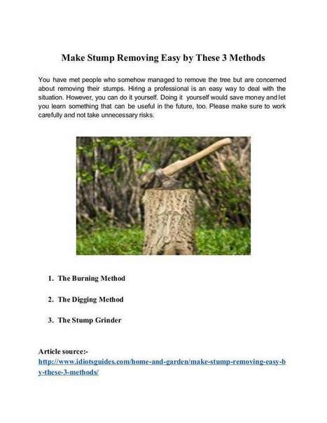 Make Stump Removing Easy by These 3 Methods | Tree Care Services | Scoop.it