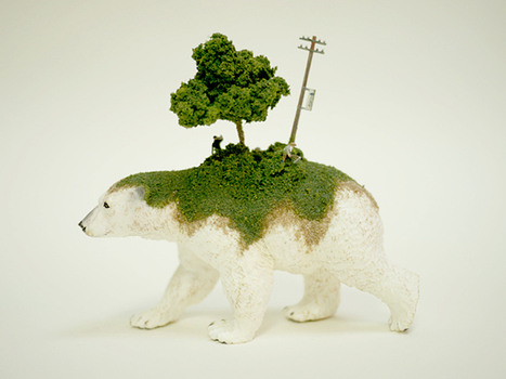Miniature world created on the back of toy animals by Maico Akiba | Art Installations, Sculpture, Contemporary Art | Scoop.it