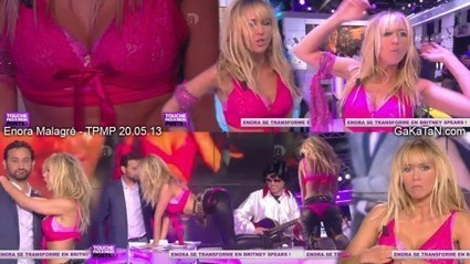 Photos : Enora Malagré sexy en Britney Spears dans TPMP (20/05/13) | General Media | Scoop.it