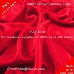 Red Silk Charmeuse Fabric 16MM | lucyfabriconline | Scoop.it