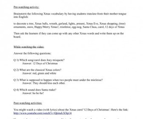Movie Worksheet: Friends Season 2, Episode 8 'The One with Phoebe's Dad' (Christmas Party) | others | Scoop.it
