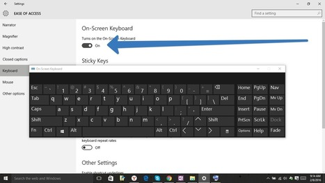 How to Use the On-Screen Keyboard on Windows 7, 8, and 10 - techyuga.com | HELP MY COMPUTER NOW | Scoop.it