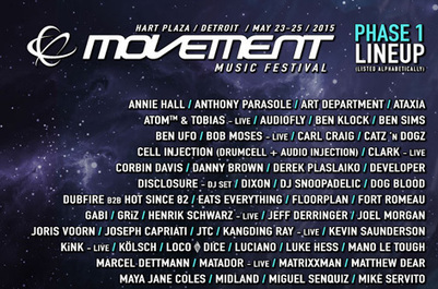 Movement reveals first names for 2015 | DJing | Scoop.it