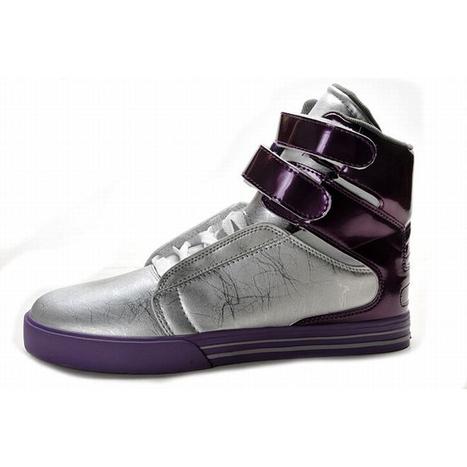 men silver purple high top supras tk society men skate shoes | popular list | Scoop.it