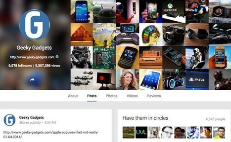 Google Adds View Counts To Google+ Profiles - Geeky gadgets | 360 VR photography | Scoop.it
