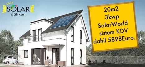 3kwp SolarWorld şebekeye bağlı güneş enerji sistemi şimdi sadece 5898Euro, KDV dahil | Solar Dükkan | Scoop.it