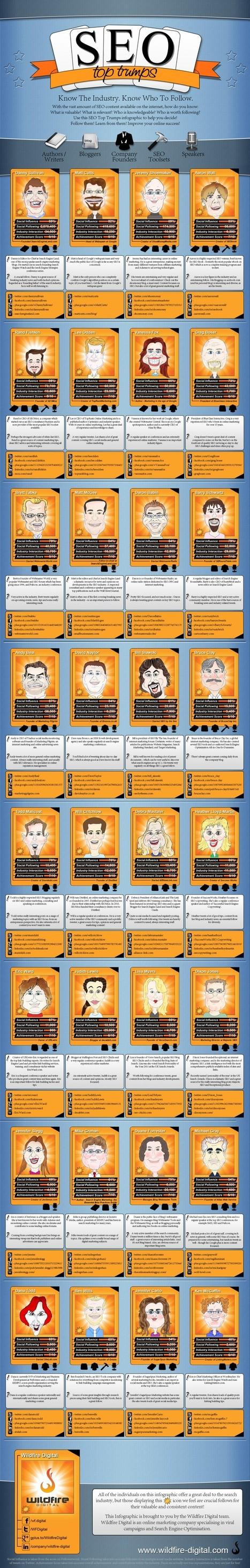 Los gurús del SEO para 2013 #infografia #infographic #seo | Marketing D | Scoop.it