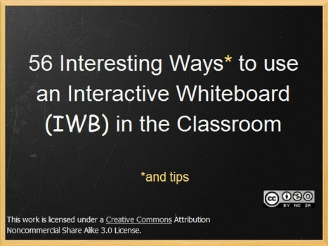 56 Interesting Ways to use the Interactive Whiteboard | Teacher Learning Networks | Scoop.it