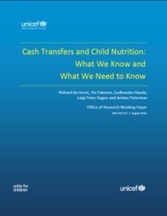 Cash Transfers and Child Nutrition: What we know and what we need to know | UNICEF | Development, agriculture, hunger, malnutrition | Scoop.it
