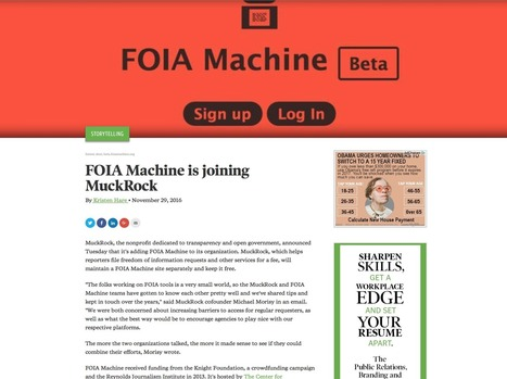 Poynter: FOIA Machine is joining MuckRock | RJI | RJI links | Scoop.it