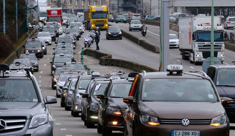 Taxis contre VTC: la grève se poursuit à Paris | Taxi Lyon | Scoop.it