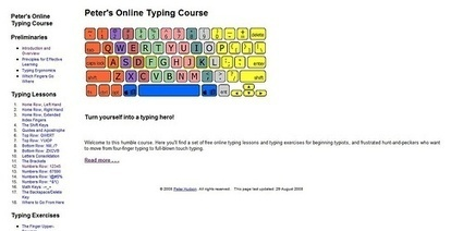 Typing Lessons | Bookmarked Web Links with ENSC Knight-Time Tech | Scoop.it