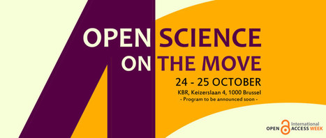 """Open Access Belgium: """"Open Science on the move"""" - Brussels 24-25/10/2016 