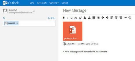 How to share PowerPoint Online with the New Outlook.com Email | Teaching in the XXI Century | Scoop.it