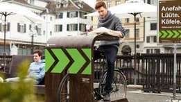 Anefahre, Lüüte, Käfele: Drive-In für Velos am Zürcher Limmatquai - Zürich - Blick