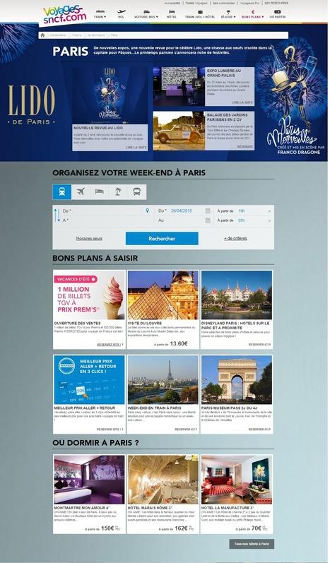 Voyages-SNCF sera-t-il le portail de la «Destination France» ? | Médias sociaux et tourisme | Scoop.it