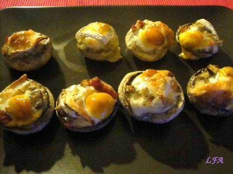 Champiñones rellenos con huevo de codorniz | recetitas | Scoop.it