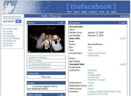 What Original Twitter, Facebook and Google Homepages Looked Like   The 21st Century   Scoop.it