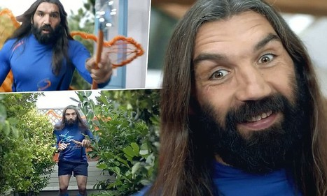 French rugby legend Sebastien Chabal stars as a fairy in TV advert - Daily Mail   'Rugby Shorts'   Scoop.it