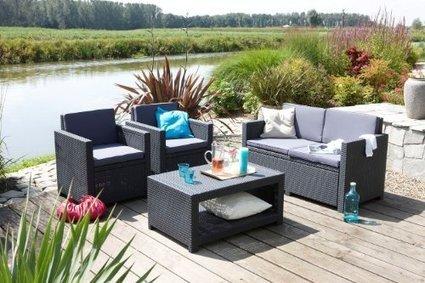 –>   Sitzgruppe ALLIBERT MONACO Lounge Set Poly Rattan anthrazit | Günstig Gartenmöbel Set | Scoop.it