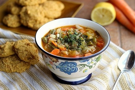 Hearty Vegetable Soup with Sweet Potato Biscuits (Vegan, Gluten-Free) | Oatmeal with a Fork | My Vegan recipes | Scoop.it