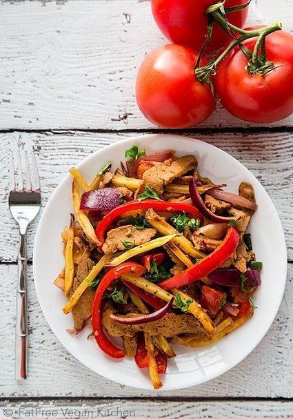 Seitan Saltado (Peruvian Stir-Fry with Potatoes) | My Vegan recipes | Scoop.it