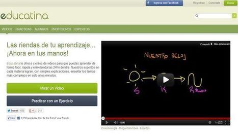 Educatina, cientos de vídeos educativos en español y ejercicios para comprobar lo aprendido.- | Posibilidades pedagógicas. Redes sociales y comunidad | Scoop.it