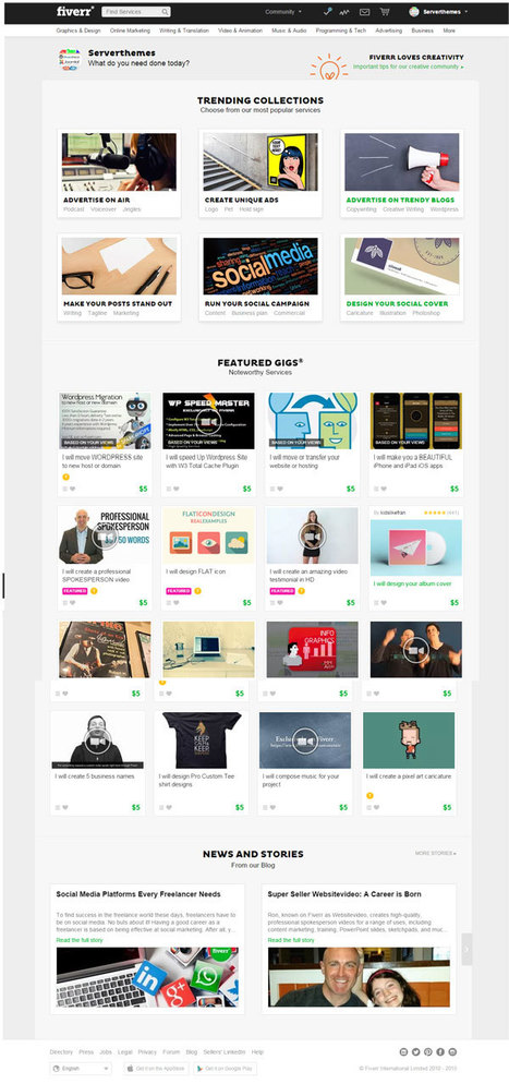 Taskerr WordPress Micro Jobs Theme - Download at ServerThemes.Net | Download Premium WordPress Themes | Scoop.it