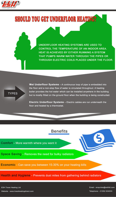 Why Choose Underfloor Heating? | Trace Heating Direct | Scoop.it